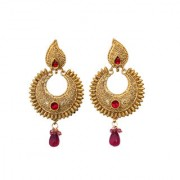 Indian Style Beaded Dangle Drop Fashionable Earrings Traditional Jhumka Jhumki Earrings for Women 21 PINK