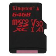 Kingston microSDXC Canvas React 100R/70W UHS-I, 64GB