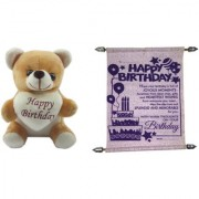 Teddy bear soft toy friend for ever & Card my dear friends friends for sister