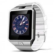 DZ09 Bluetooth Smart reloj muneca saludable para el telefono - plata + blanco