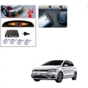 Auto Addict Car Silver Reverse Parking Sensor With LED Display For Volkswagen Polo GTI