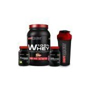 Kit 100% Whey 900g + Thermo Start Powder 120g + Creatine 100g + Coqueteleira Bodybuilders