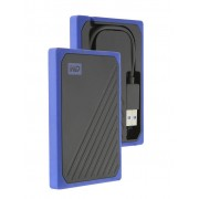 Жесткий диск Western Digital WD SSD My Passport Go 500Gb Blue WDBMCG5000ABT-WESN