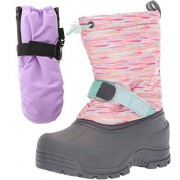 Northside Frosty Snow Boot, Size: 6 M US Toddler Pink/Multi; with Matching Waterproof Mittens