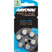 Rayovac 675 Proline Advanced Premium Zinc-Air - 1 blister