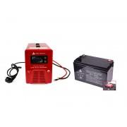 Zestaw zasilania awaryjnego Sinus-850PRO 850W + AKU 100Ah 12V VRLA AG