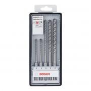 Bosch Set 5 Punte 5/6/8/10 Mm 50/115 100/165 Mm Sds Plus-7x 4 Taglienti