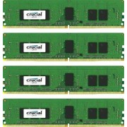 Crucial 16GB (4GBX4) DDR4 2400 1.2V memoria 12 GB 2400 MHz Data Integrity Check (verifica integrità dati)