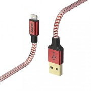 Hama Reflective Charging/Data Lightning cable 1,5m Red 178299