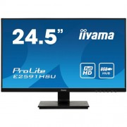 Monitor iiyama E2591HSU-B1, 25'', TN, FullHD@75Hz, 250cd/m2, 1ms, VGA, HDMI, DP, USB, FreeSync, čierny