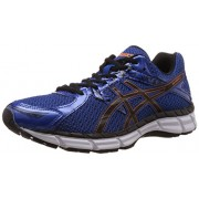Asics Men's Gel-Excite 3 Blue, Black and Orange Mesh Running Shoes - 7 UK