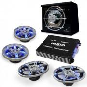 Electronic-Star HiFi комплект за кола BeatPilot FX-413, високоговорители, усилвател (PL-4.1-3-6x9)
