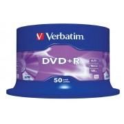 "DVD+R VERBATIM 4.7 GB, 120 min, viteza 16x, Single Layer, spindle, ""Matt Silver"", 50 buc/set"