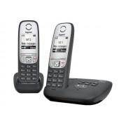 Gigaset A415A Duo - Téléphone sans fil - système de répondeur avec ID d'appelant - DECTGAP - noir + combiné supplémentaire
