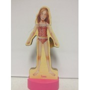 T.S. Shure Magnetic Wooden Dress Up Doll Emma Doll