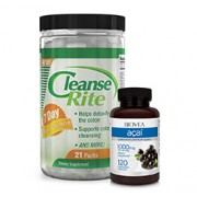 CLEANSE-RITE 7 DAY COLON CLEANSE + FREE ACAI 1000mg 120 Capsules VALUE PACK
