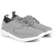 Clarks Triflow Form Grey Nubuck Casual For Men(Grey)