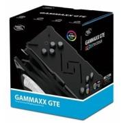 """Cooler DeepCool CPU universal, soc LGA20xx/1366/115x & AMx/FMx, Al+Cu, 4x heatpipe, 150W, RGB LED """"GAMMAXX GTE"""""""