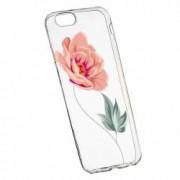Husa Silicon Transparent Slim Rose 127 Apple iPhone 6 PLUS 6S PLUS