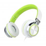 EY Entonar El Sonido HD200 Con Cable De Auriculares Bluetooth Con Micrófono Auriculares Plegables-Blanco Y Verde