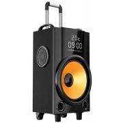 Boxa Portabila PNI FunBox BT201, Bluetooth, 200W, Mixer, acumulator 5000 mAh, MP3 player, Radio FM, slot micro SD, USB, AUX IN, Display, Microfon, Troller (Negru/Portocaliu)