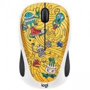 Мишка Logitech Doodle Collection - M238 Wireless Mouse - GO-GO GOLD, 910-005056