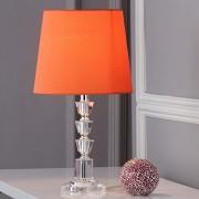 Safavieh Lighting Collection Harlow Lámpara de mesa (cristal, 40 cm, 2 unidades), color naranja y transparente