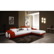 items-france HAWAI 2 - Canape d'angle en cuir 4 personnes