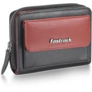 Fastrack Women Travel Black, Brown Genuine Leather Wallet(4 Card Slots)