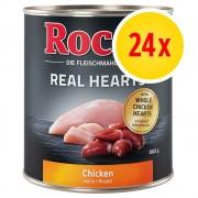 Rocco Fai scorta! Rocco Real Hearts 24 x 800 g - Manzo con Cuori di Pollo interi