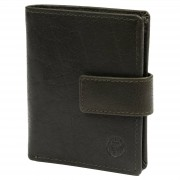 Lucleon Portefeuille Montreal compact en cuir vert olive RFID