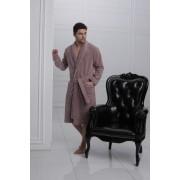 Laete Удобный мужской халат из бамбука бежевого цвета Laete L11007-1