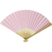 Baby Pink Paper Hand Fan