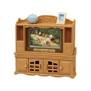 Sylvanian Families Furniture TV and TV Stand Set
