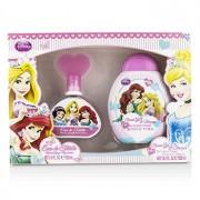 Disney Princess Coffret: Eau De Toilette Spray 100ml/3.4oz + Shower Gel & Shampoo 300ml/10.2oz 2pcs Princess Комплект: Тоалетна Вода Спрей 100мл + Душ Гел и Шампоан 300мл