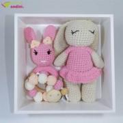 Set Cadou Bebe Jucării Croșetate - Pinky