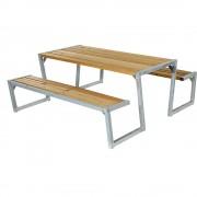 Gruppensitzbank Länge 1760 mm ohne Rückenlehne, naturfarben