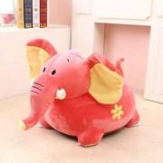 Fotoliu din plus Elefant de calarit Roz