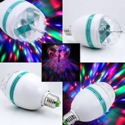 right traders 3W Colorful Auto Roating RGB LED Bulb Stage Light Party Lamp Disco Light (pack of 1)