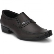 BB LAA Men's Brown Slip on Smart Formals Shoes