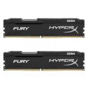 Memorie Kingston HyperX Fury Black DDR4, 2x4GB, 2400MHz, CL15