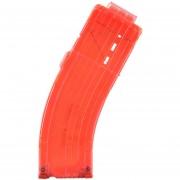 Modelo AK Curva Clips De Bala Suaves 15 Balas Para Nerf N-strike Pistola Juguete - Naranja Transparente