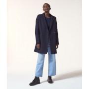 Etam Manteau droit en laine mélangée - RAISIN - 42 - Bleu - Femme - Etam