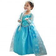 Fancy steps frozen elsa fancy dress costume gown b'day birthday gift (only Gown) measurement in product description (2 to 4 yrs) christmas xmas dress