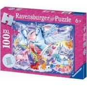 Puzzle Unicorni Cu Sclipici, 100 Piese