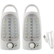 X-EON Sign-786 18SMD Rechargeable Emergency Light - Portable 10W(Made in India) -Mix Colour (Pack of 2)