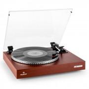 Auna TT-931 Platine vinyle tourne disque 2 vitesses avec couvercle - bois