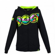 VR46 The Doctor Donna felpa con cappuccio Nero Giallo L