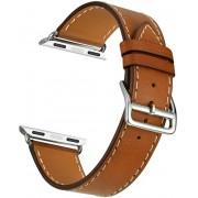 Wotchi Kožený řemínek pro Apple Watch Hnědý 42/44 mm
