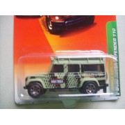 Matchbox '97 Land Rover Defender 110 Metallic Green #55 1/64 Scale Collector